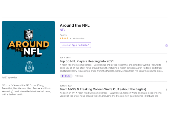 add your podcast to facebook podcast example