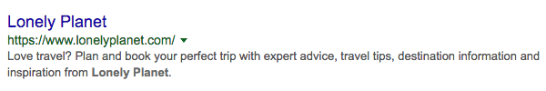 Examples of Great Meta Descriptions - Lonely Planet