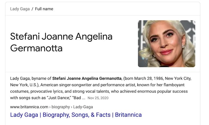 Lady Gaga stage name example for How to Make Money Blogging