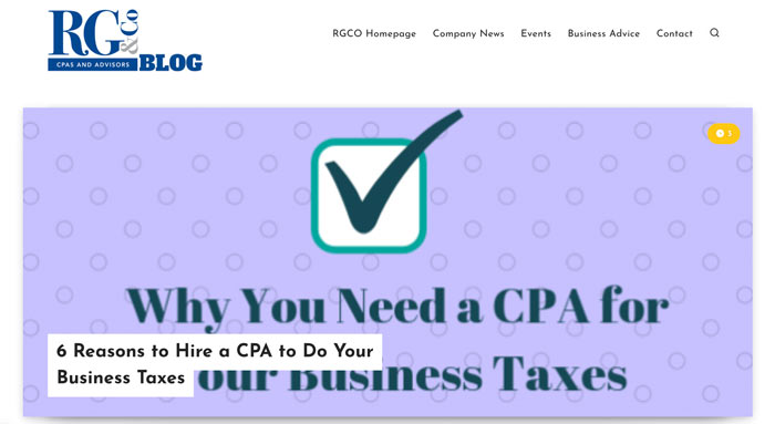 Marketing Tips for Accountants CPAs - Create a Blog For Your Website (an example)