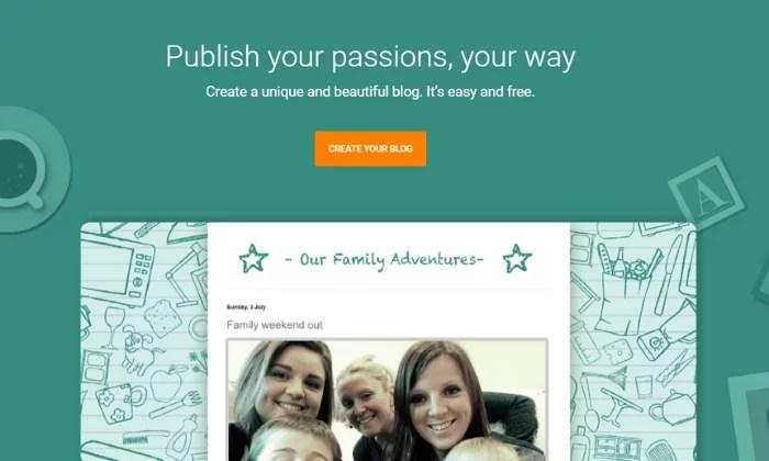 Blogger splash page for Best Blogging Platforms