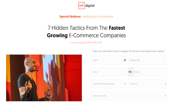 Upcoming Free Webinar: 7 Hidden Tactics From The Fastest Growing E-Commerce Companies