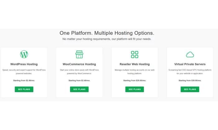 GreenGeeks options for best web hosting services