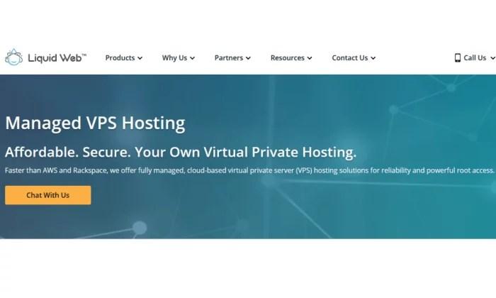 Liquid Web splash page for Best VPS Hosting