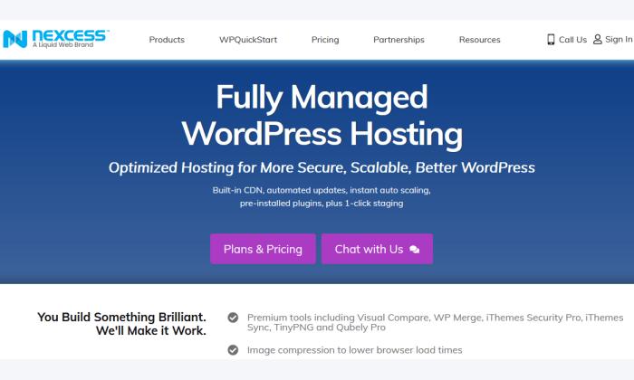 Nexcess homepage for Best WordPress Web Hosting