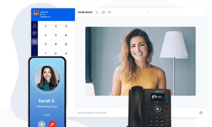 Nextiva interface for Best Business Phone Systems