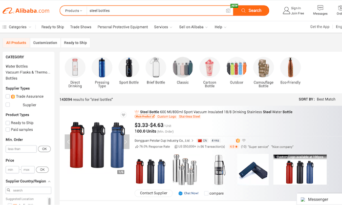 Sourcing products from Alibaba for How to Start an Online Store