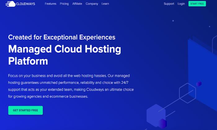 Cloudways main cloud page for Best Cloud Web Hosting