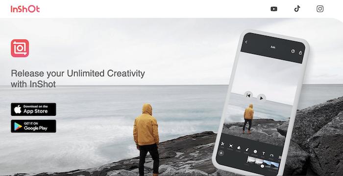Tools to edit TikTok Videos - InShOt