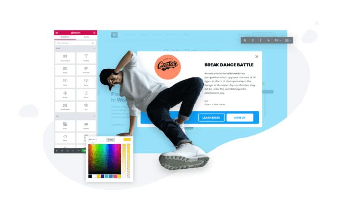 Elementor Pro popup editor for Best WordPress Popup Plugins
