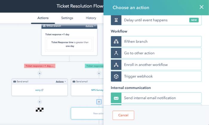 HubSpot interface for Best Help Desk Software