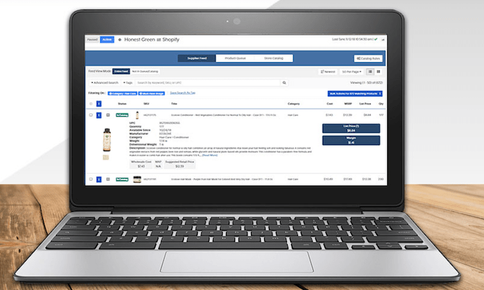 Inventory Source interface for Best Dropshipping Companies