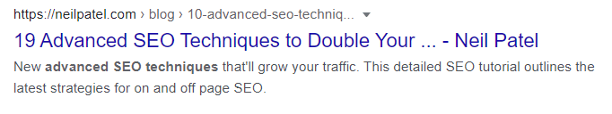 Improve organic CTR by paying attention to your title tag.