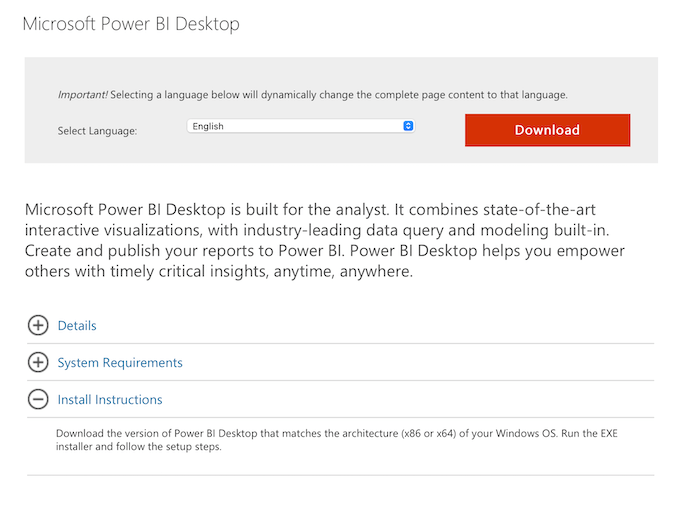 Getting Started With Power BI for Marketing - Download and Install Power BI Desktop