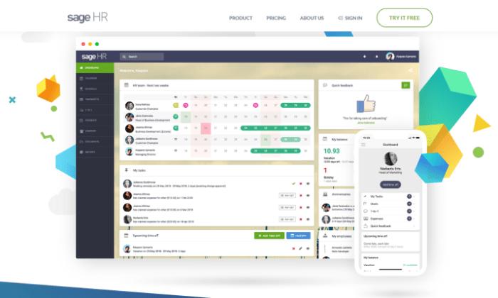 Sage HR interface for Best Employee Scheduling Software