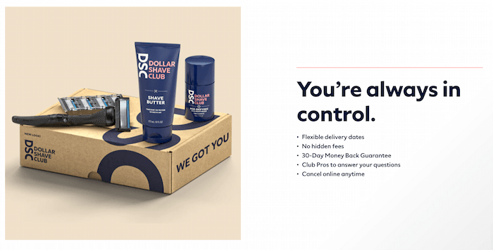 Examples of D2C Brands - Dollar Shave Club