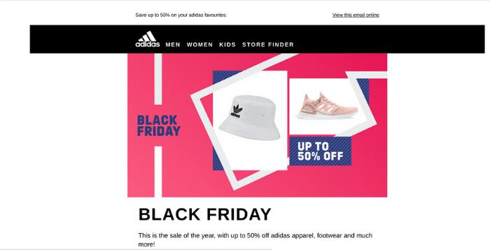 Black Friday e-commerce - email marketing