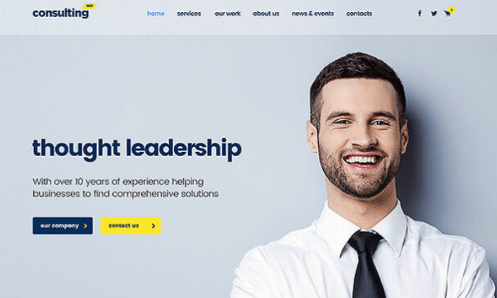 ConsultingWP demo page for Best WordPress Themes for Blogs