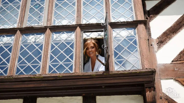 Albright Hussey Wedding Photographer, Bridal Prep at Albright Hussey Manor