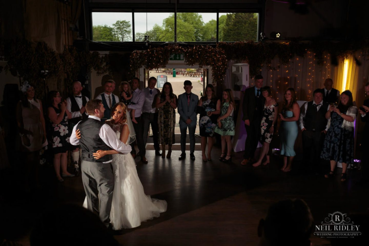 Lancaster Wedding Photographer - Bride and Groom have their First Dance at Lancaster Brewery