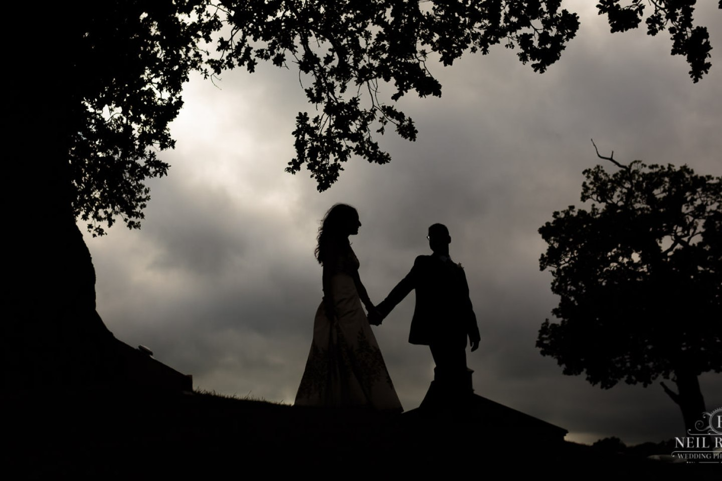 Merrydale Manor Wedding Photographer - Bride and Groom silhouette