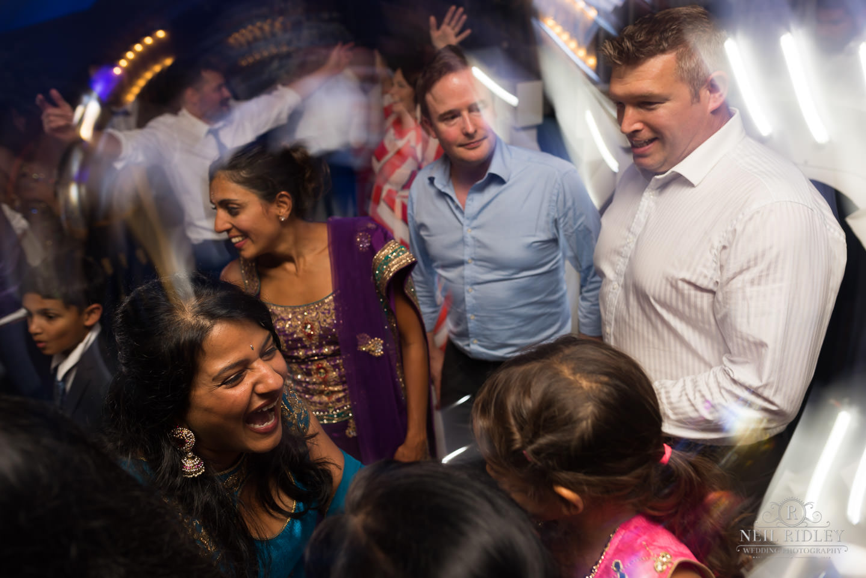 Merrydale Manor Wedding Photographer - Dance floor shot with motion blur