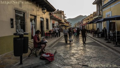 The casual laid back walks you can have a sunset in San Cristobal