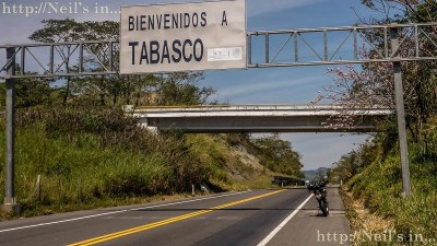 Crossing into Tabasco