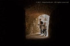 Tamara and Tom entering tunnel