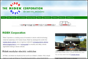 Ridek Corporation - modular electric vehicles