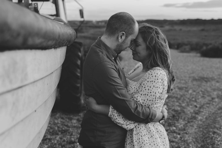 Cley beach engagement photo