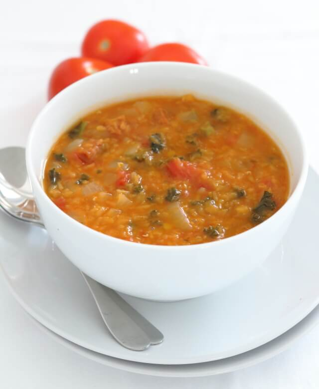 You'll love the smell of this chorizo, tomato, lentil and kale soup as it permeates your kitchen and house when the chorizo is releasing its juices. And as for the taste, well it's just a complete taste sensation!