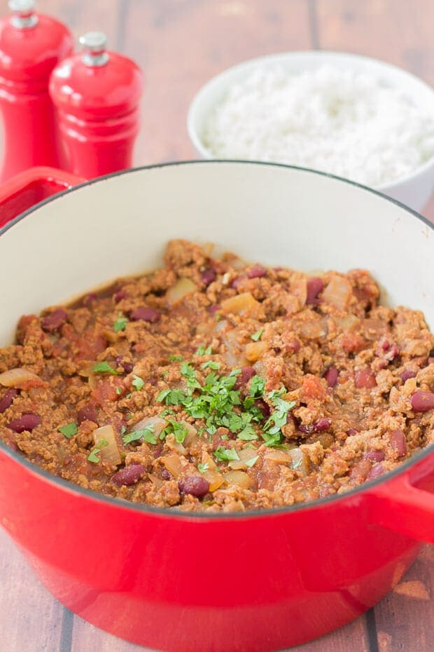 Quorn chilli is a delicious alternative to beef chilli. I've made this tasty vegetarian family Quorn chilli recipe for many years now. This recipe is versatile in that you can also make it with beef if you're a meat eater, or can't get Quorn.