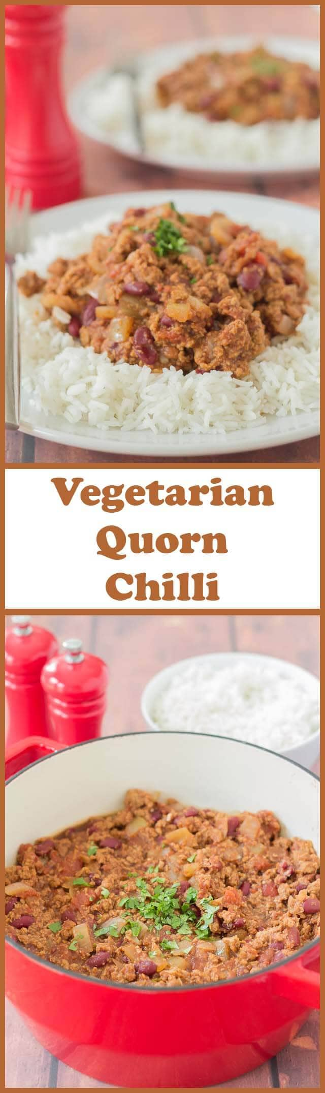 Quorn chilli is a delicious alternative to beef chilli. I've made this tasty vegetarian family Quorn chilli recipe for many years now. This recipe is versatile in that you can also make it with beef if you're a meat eater, or can't get Quorn