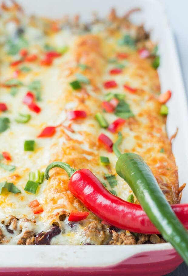 Quorn enchiladas are a healthier vegetarian version of the classic Mexican dish. They're lower in fat and calories than the traditional version and make for a hearty tasty weekend dinner.