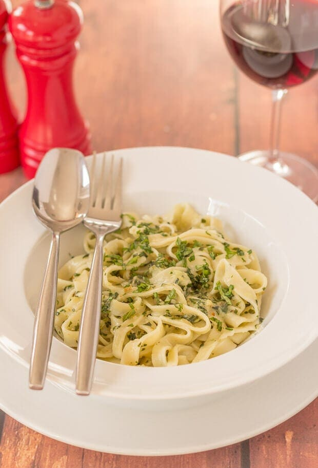 This tagliatelle with home-made pesto recipe is a step by step guide for how to make your own tagliatelle and your own home-made pesto. Impress your friends and dinner guests with your culinary skills with this simple, rustic Italian dish.