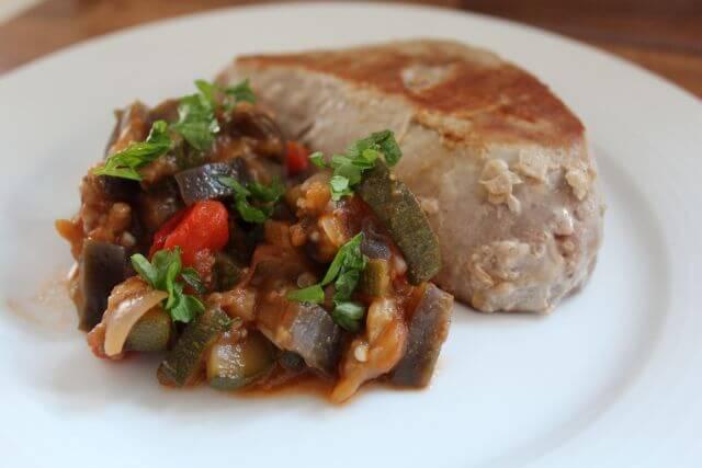 Ratatouille and Tuna Steak