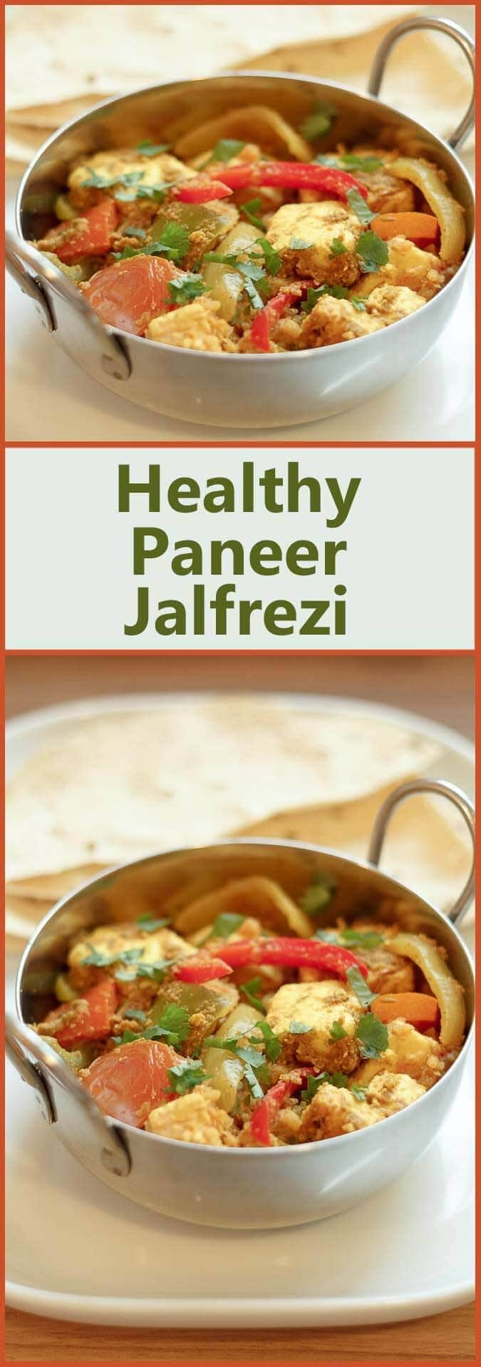 Healthy paneer jalfrezi is my take on the classic Indian jalfrezi dish Not only have I made it healthier, but I've used paneer cheese too making it also suitable for vegetarians.