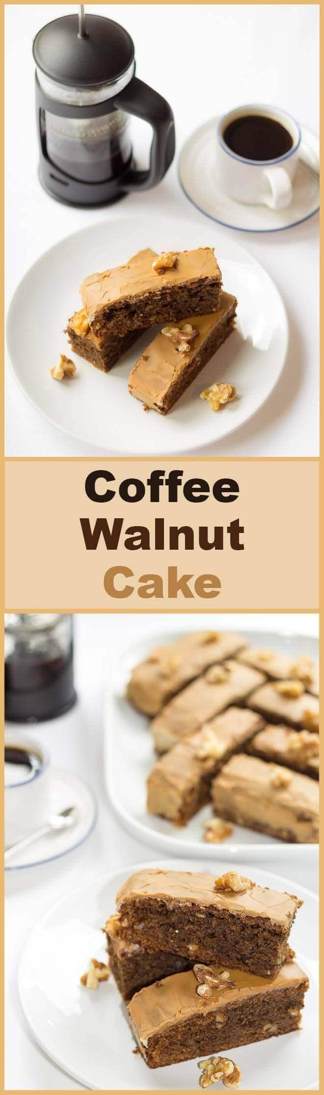 A deliciously moist, nutty textured cake with just a hint of coffee. This coffee walnut cake is loved by coffee lovers and non-coffee lovers alike.