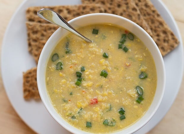 This delicious creamy sweetcorn chowder is low cost, low calorie and easy to put together and make in 30 minutes. Its absolutely perfect for a cold winters day!