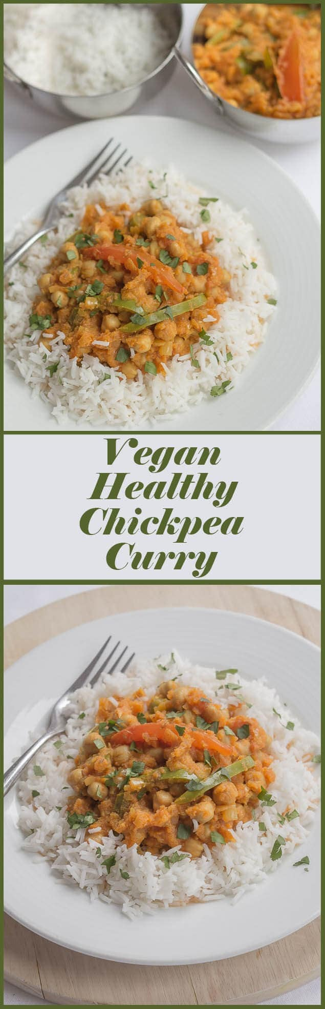 This tasty vegan healthy chickpea curry is low cost, low calorie and extremely filling. One portion alone provides nearly 80% of your daily recommended dietary fibre recommendation.