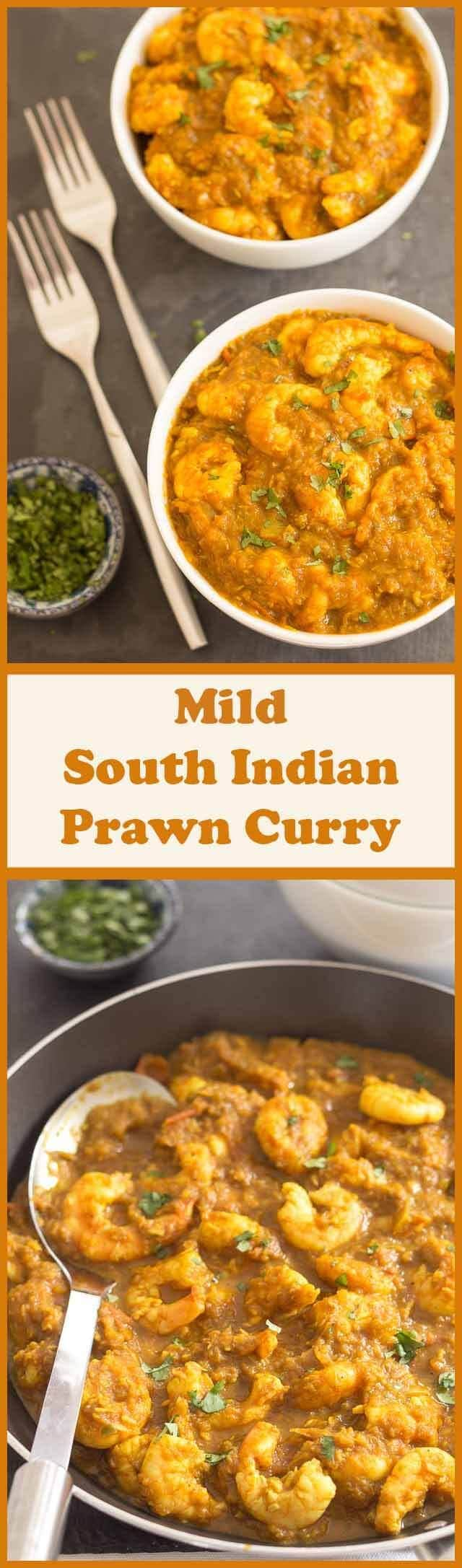 This mild South Indian prawn curry really is an easy and delicious healthy meal. If you're calorie counting or health conscious the bonus is this curry comes in at an extremely low 200 calories per portion.