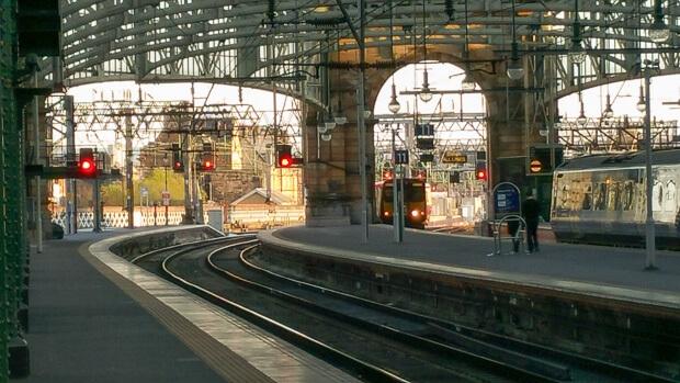 Glasgow Central Railway Station View Platform 10