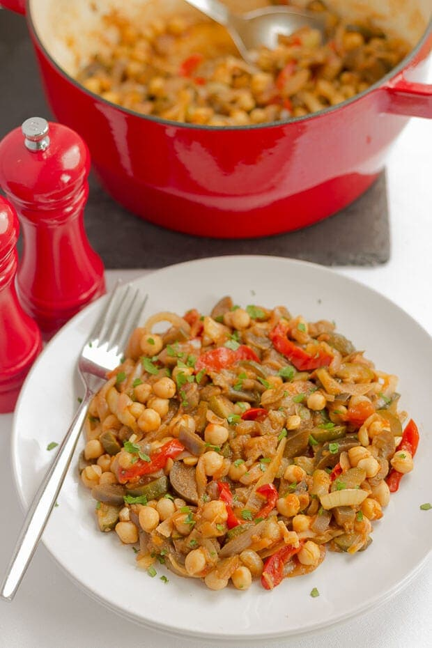 Ratatouille and Chickpea Stew Featured Image