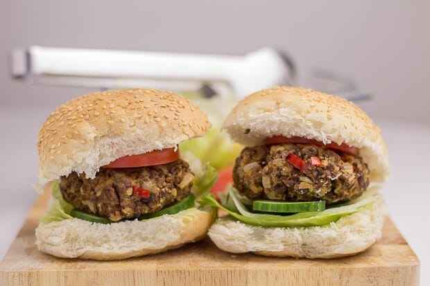Home-made quorn burgers Featured Image