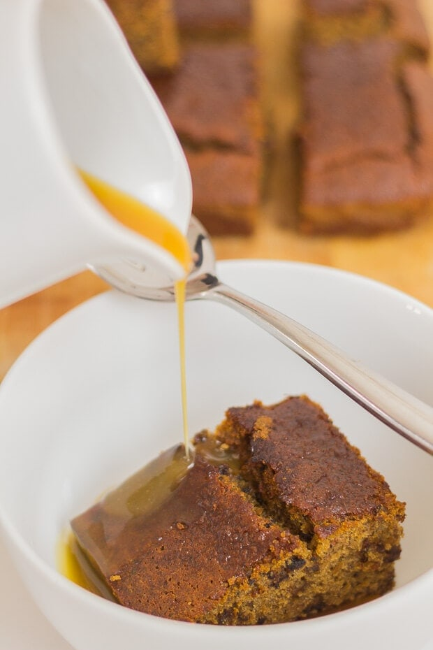 Here, the classic, indulgent British pudding favourite has been given a makeover as a gluten free sticky toffee pudding. A lower calorie cake base, with the option of a sweet and decadent toffee sauce topping, or alternative fat free yogurt one.