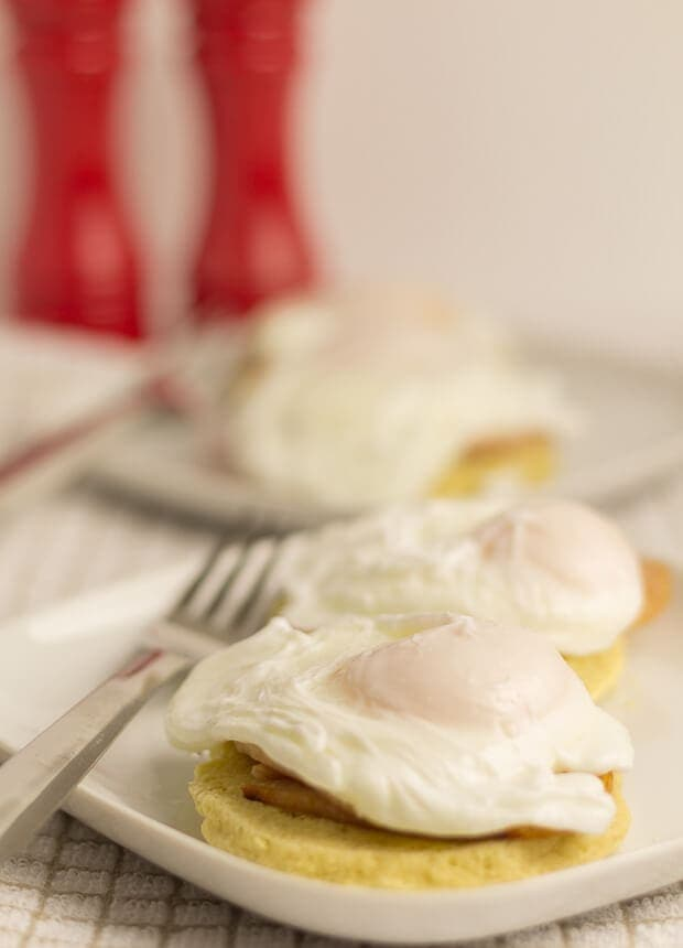 Healthy Eggs Benedict perfectly poached eggs