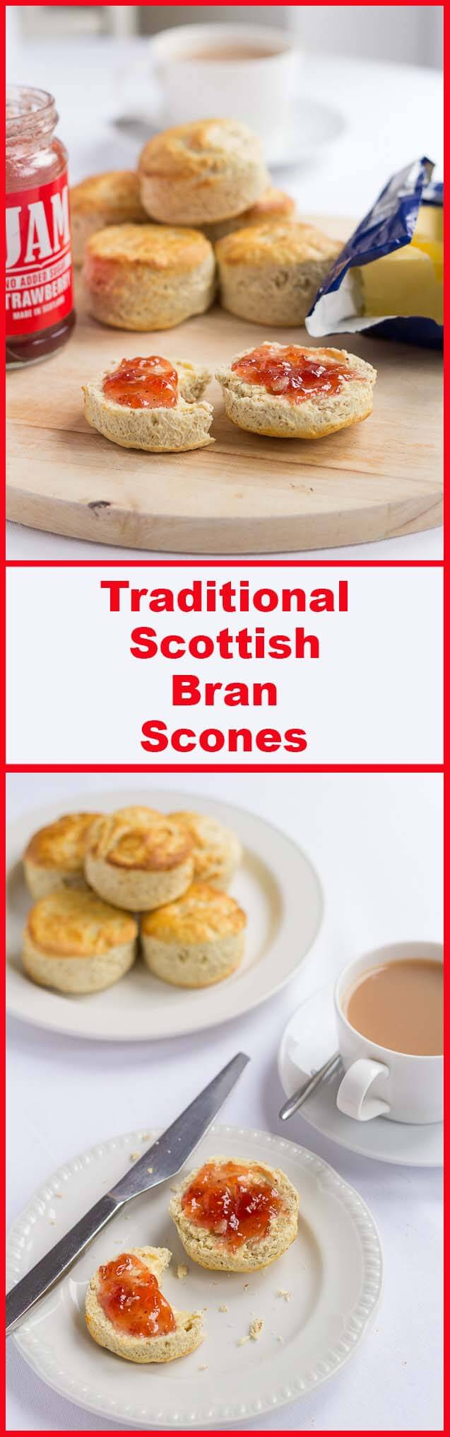 Easy, tasty Scottish bran scones recipe. Made to a traditional family recipe and best served with butter and home made jam.