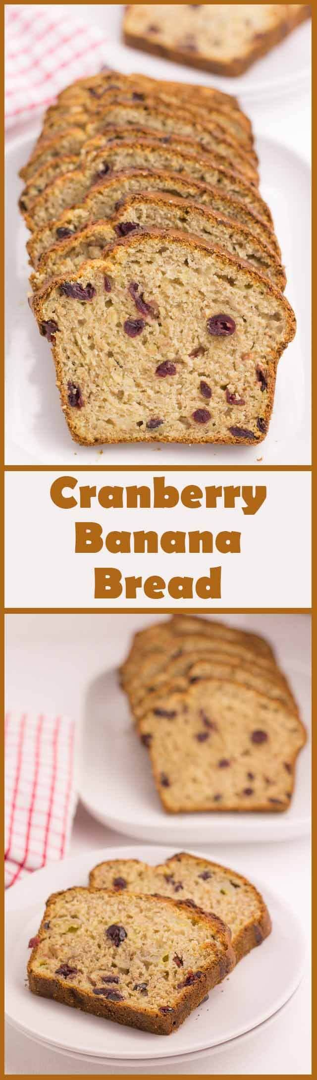 This deliciously moist cranberry banana bread is not only a fantastic healthy addition to your Christmas baking list but as you use dried cranberries here, as opposed to fresh cranberries, you can make it all year round!