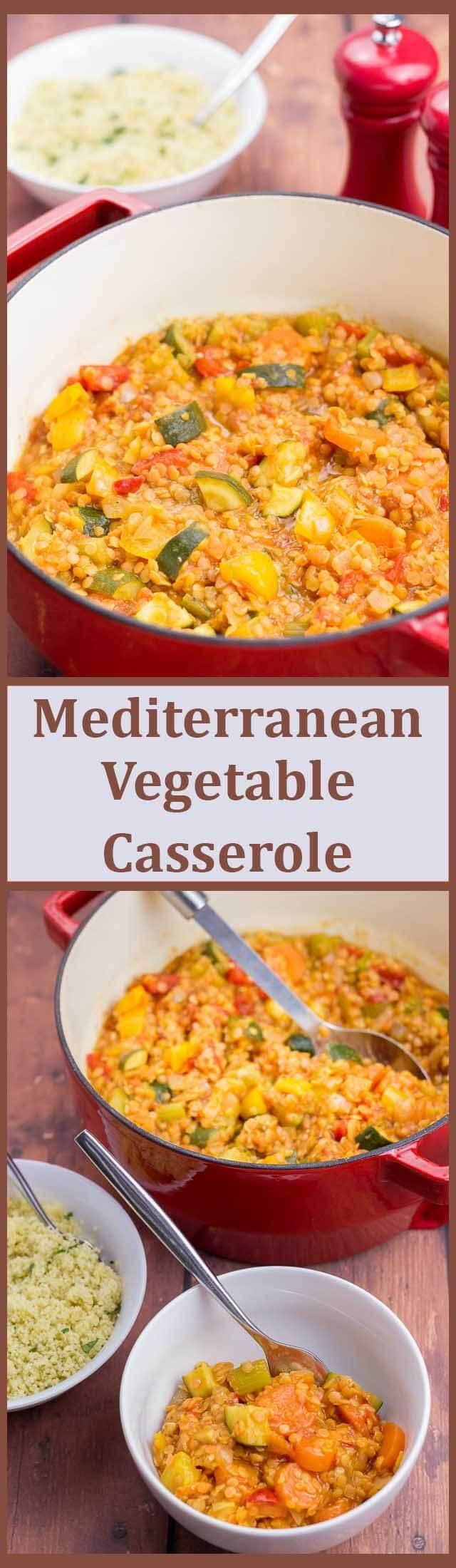 This delicious one pot family Mediterranean vegetable casserole is packed full of flavour, with loads of healthy veggies and is also extremely filling and satisfying.
